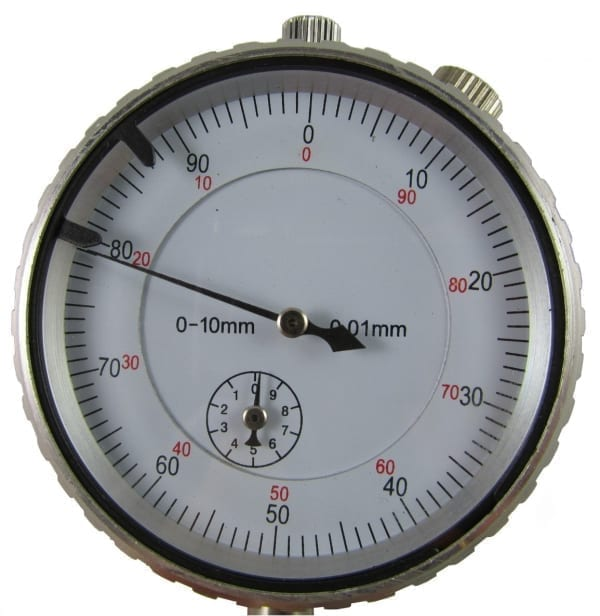 10mm indicator front-top meetklok
