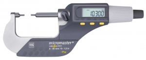 Tesa Micromaster IP54 Micrometer with Small Measuring Faces
