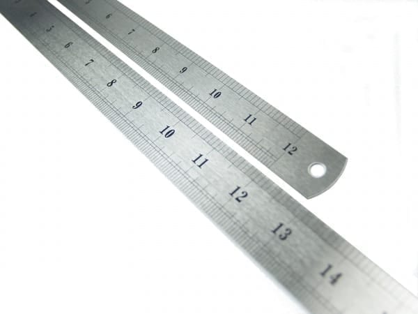 Stainless steel ruler 300 mm, millimeter and inch