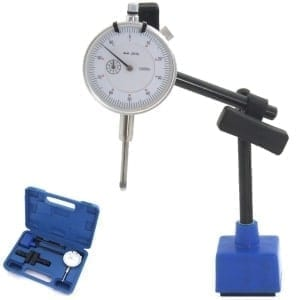 iGaging 0-25 mm analog dial gauge, mini magnetic stand
