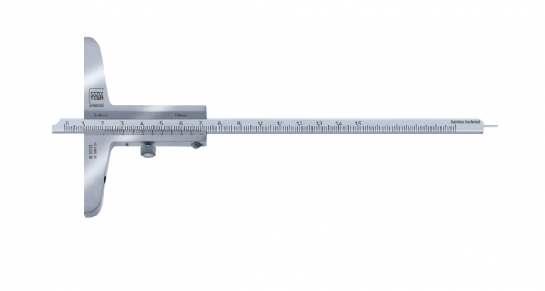 Tesa Vernier depth Calipers - Convertible Models with short cut Measuring face and steel tip 0.05 mm