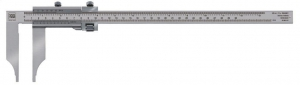 Tesa Vernier Calipers, models with Rounded Measuring Faces for Internal Dimensions (with fine adjust device)