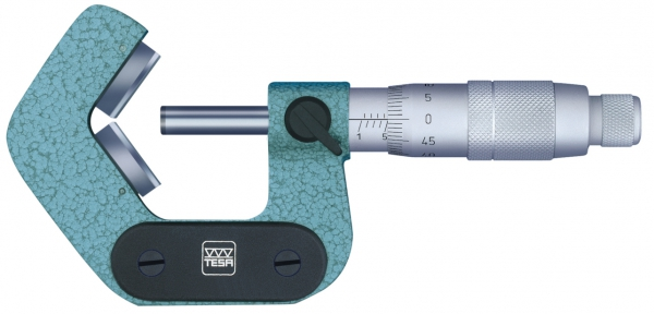 Tesa Isomaster AS Vernier model with prismatic measuring faces for workpieces having 5 flutes