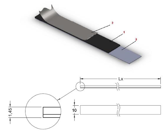 Mikronel magnetic tape-size